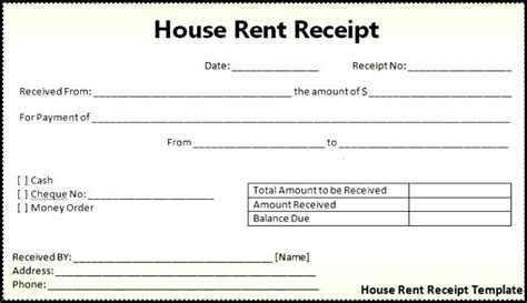 house rent receipts templates house rent receipt format india office rent receipt format