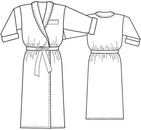 pattern for kimono dressing gown dressing gown sewing pattern 5237 made to measure