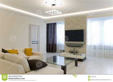 tv and couch hall with tv and sofa stock photo image 2145040
