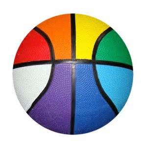 colorful basketball rainbow rainbow basketball