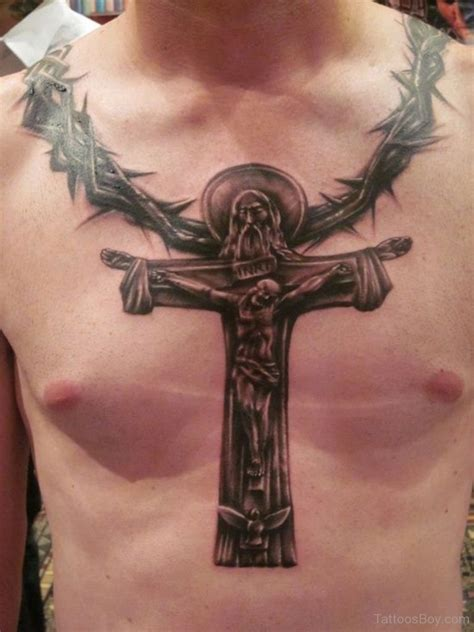 tattoo of cross on chest christian tattoos designs pictures page 2