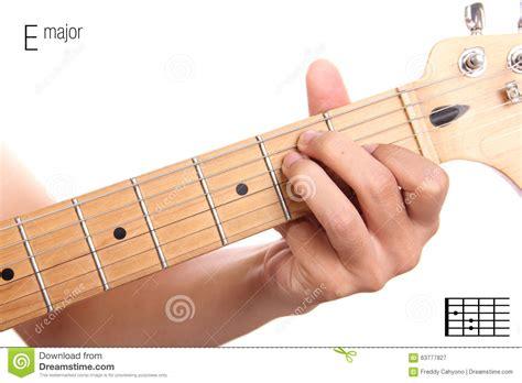 tutorial guitar up e major guitar chord tutorial stock photo image 63777827
