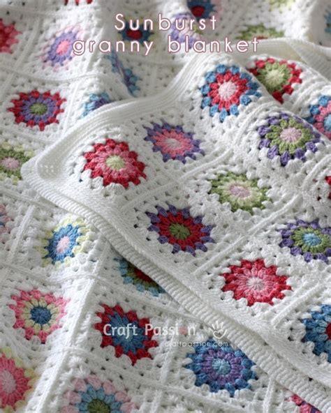 Crochet Square Blankets by Free Pattern Tutorial Sunburst Square