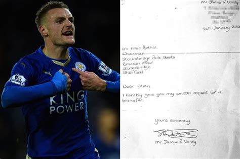 Transfer Request Letter Soccer How Vardy Transfer Request Set The Chelsea Target On