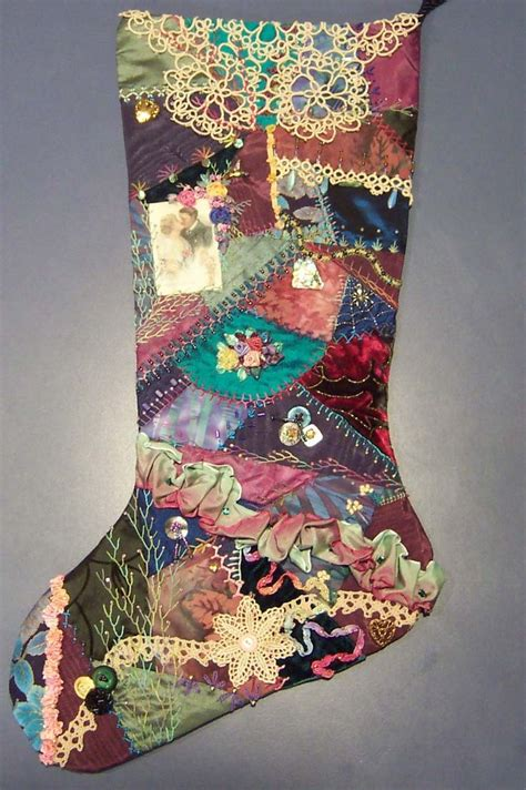 pattern for crazy quilt christmas stocking 1000 images about crazy quilts contemporary on pinterest