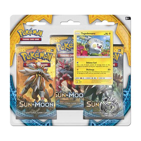 Tcg Sun Moon Booster Pack sun moon boosters togedemaru foil 3 booster pack blister
