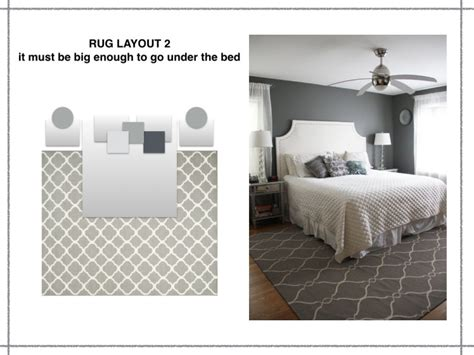 how to place a rug under a bed the rules of rug layout mad about the house