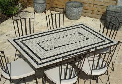 Table De Jardin Rectangulaire En Mosaique