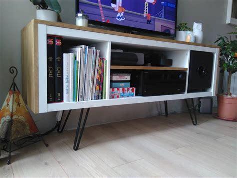 design this home coin hack un meuble t 233 l 233 sur pied customis 233 et accueille un caisson
