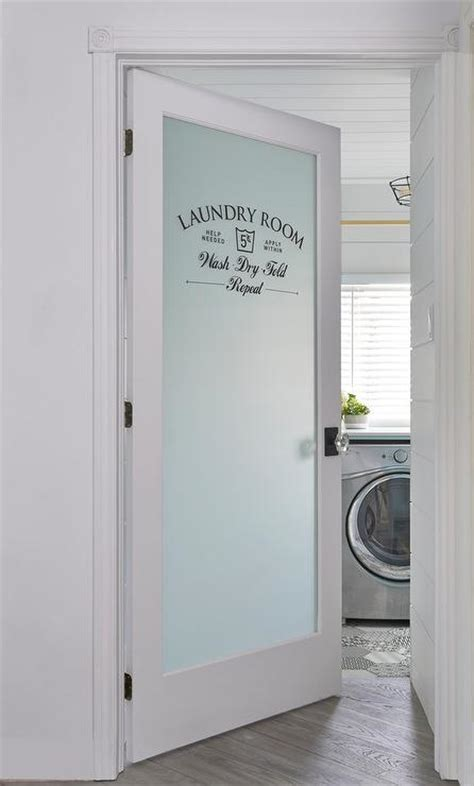Laundry Room Doors Frosted Glass by Shiplap Ceiling Design Ideas