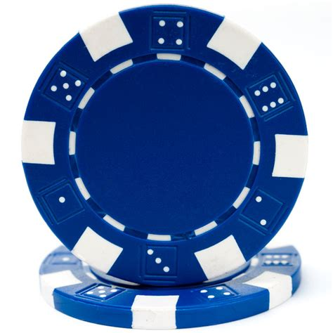 Blue Chip Casino Gift Cards - 25 blue striped dice poker chips
