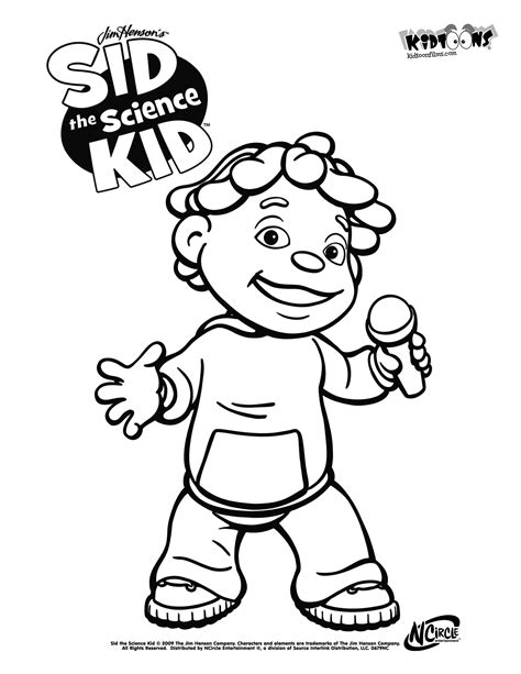 Sid The Science Kid Coloring Pages sid the science kid coloring pages az coloring pages