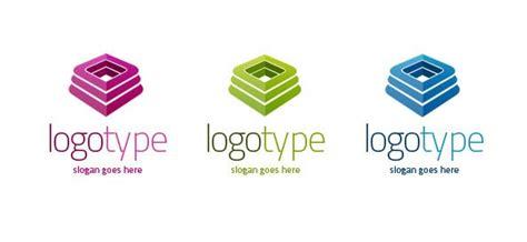 free 3d logo templates 3d logo vector template set free logo design templates