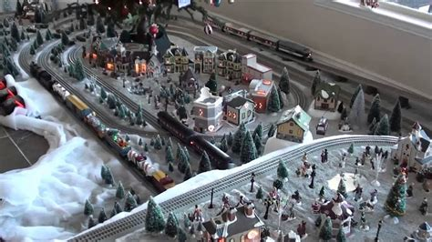 lionel train layout christmas  youtube