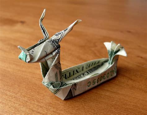 origami dragon boat dollar origami dragon boat v2 by craigfoldsfives on deviantart