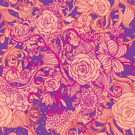 pattern flower vintage vector seamless vintage flower pattern floral vector vector