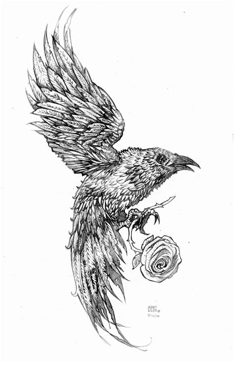 the crow tattoo designs tatto designs