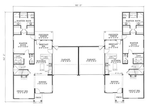 Multi Unit House Plans by Traditional Multi Unit House Plans Home Design Wilshire