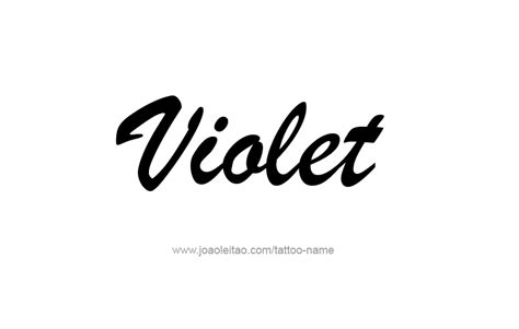tattoo name viola violet color name tattoo designs tattoos with names