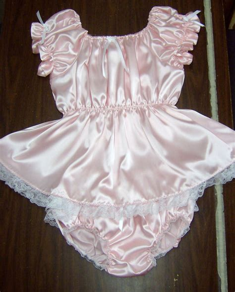sissy baby in satin dress items similar to adult sissy baby satin 2pc shorty dress