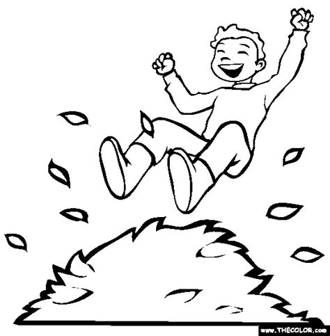 leaf pile coloring page fall online coloring pages page 1