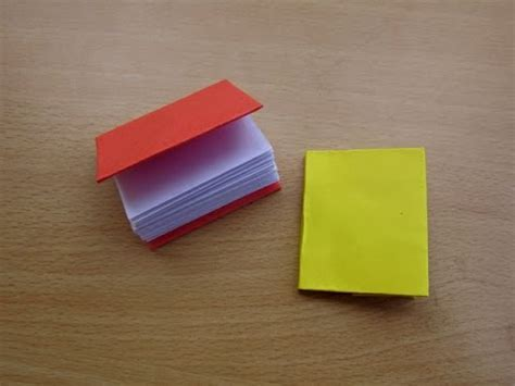 A Paper Book - how to make a paper modular mini book easy tutorials
