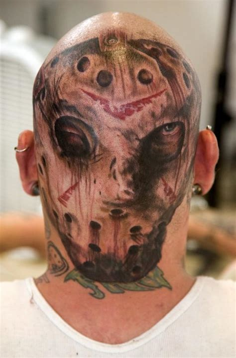 jason voorhees tattoos 9 of the worst horror tattoos dread central