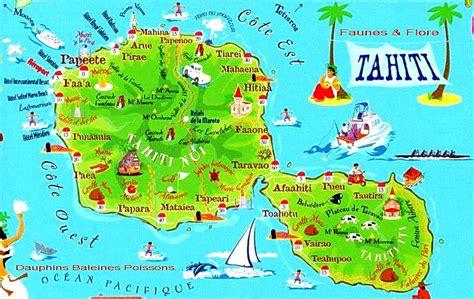 carte tahiti carte du monde