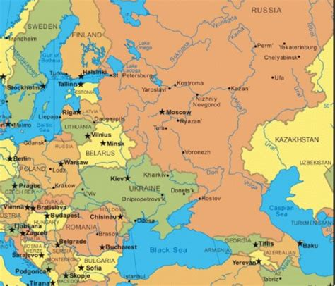 russia and eastern europe map countries 171 balticworlds
