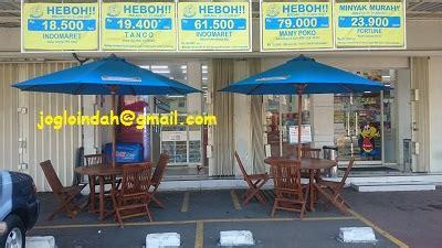 Indomaret Payung Lipat set meja payung untuk toko indomaret angkasa 7 sawah besar