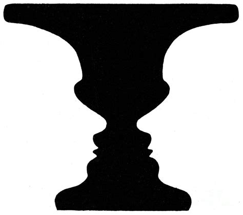 Or Vase Optical Illusion by Optical Illusion Rubins Vase 1915 Photograph By Science Source