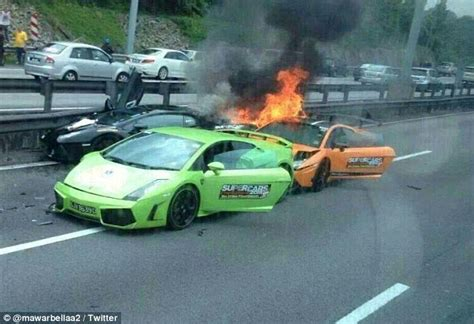 slowest lamborghini dramatic moment three lamborghini supercars worth 163 650 000