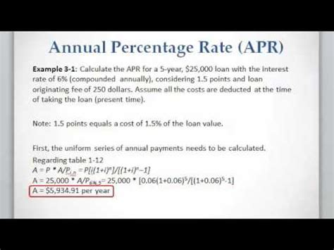 what is apr and how lesson 3 1 calculating apr for a loan or mortgage