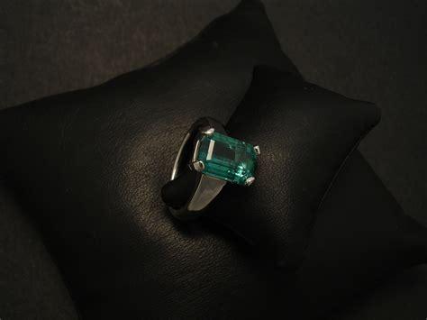 handmade platinum custom ring with emerald christopher