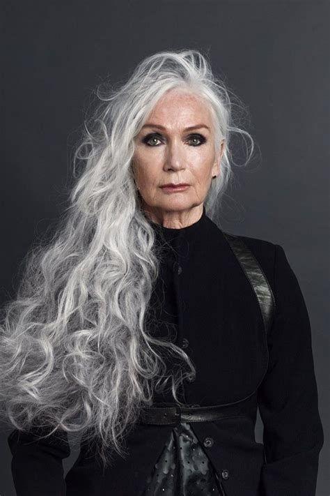 picture of long dark hair eith gray teverse frost 25 best ideas about long silver hair on pinterest