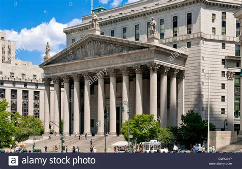 New York County Court Search United States Supreme Court Building New York County Courthouse New Stock Photo