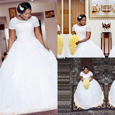 african short wedding dresses white ball gown african wedding dresses with short sleeves