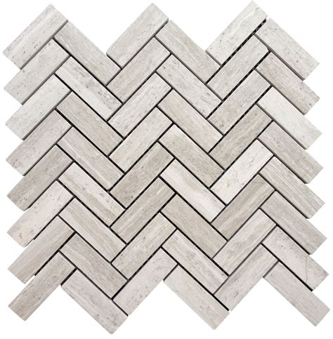 herringbone pattern wall tile 12 95 a square foot white oak marble 1x3 quot herringbone
