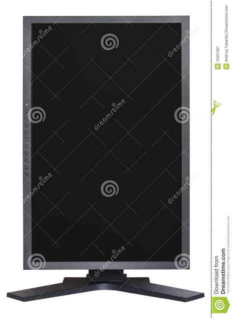 vertical lcd monitor royalty free stock photography image 15337387