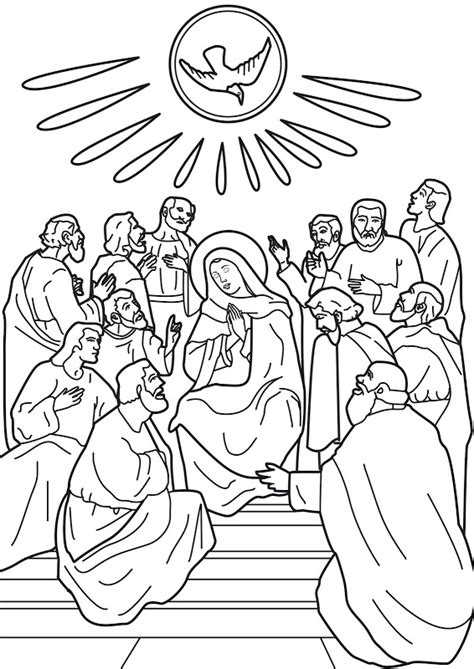 free it of holy spirit coloring pages