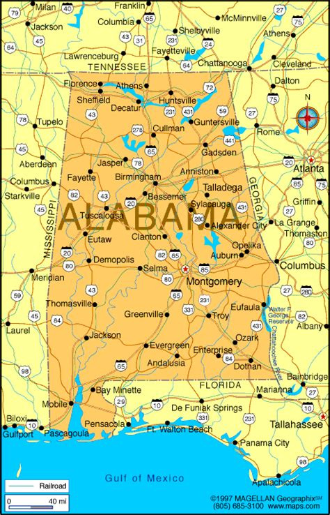 alabama map infoplease