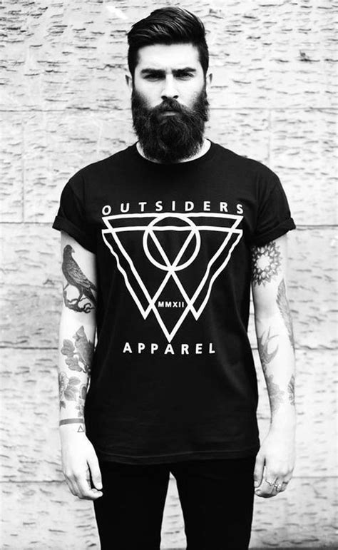 tattoo inspired clothing black white outsiders apparel hip