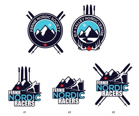 layout and logo bold modern logo design design for fernie nordic society