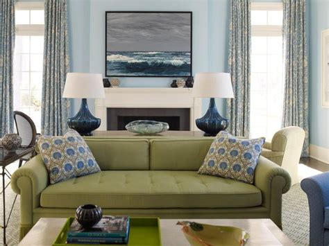 sage living room ideas green couch blue accents home pinterest blue
