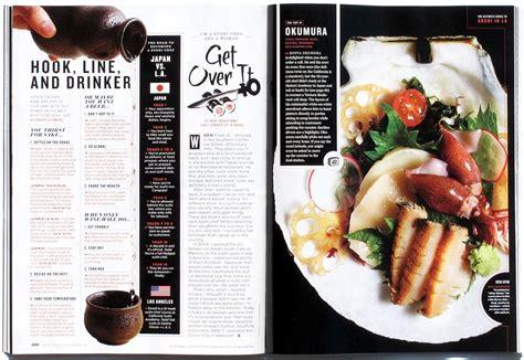 restaurant magazine layout the daily edit los angeles magazine andrea bricco a