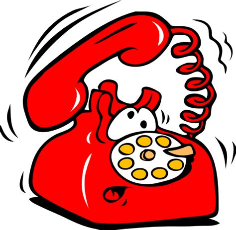 clipart telefono ringing phone clip at clker vector clip