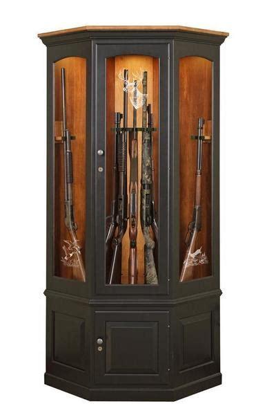 custom wooden corner gun cabinet  dutchcrafters amish