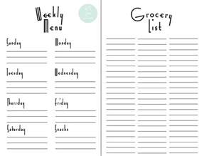 weekly meal planner and shopping list template weekly menu planner amp grocery list free printable for weekly meal planner template 9 free pdf word documents