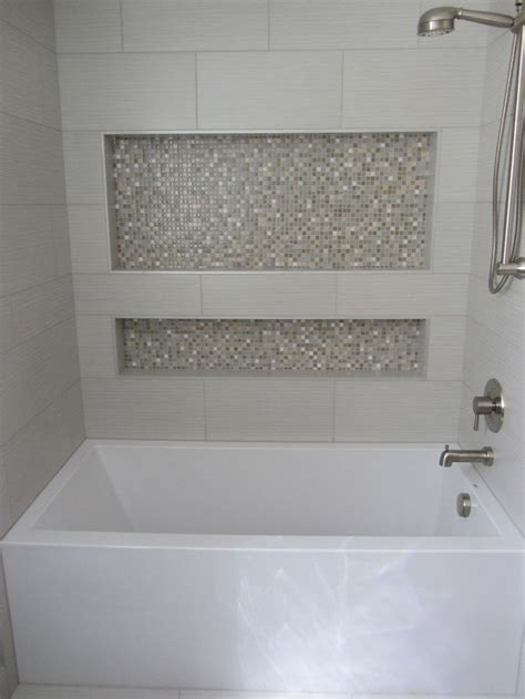 tub surround with single built in shower shelf marazzi 1000 ideas about tub tile on pinterest bathroom tile