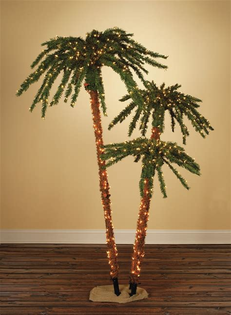tropical lighted christmas tree pre lit palm tropical artificial tree